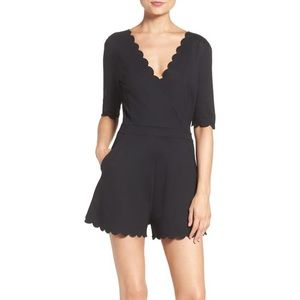 French Connection Beau Scalloped Romper Size 4
